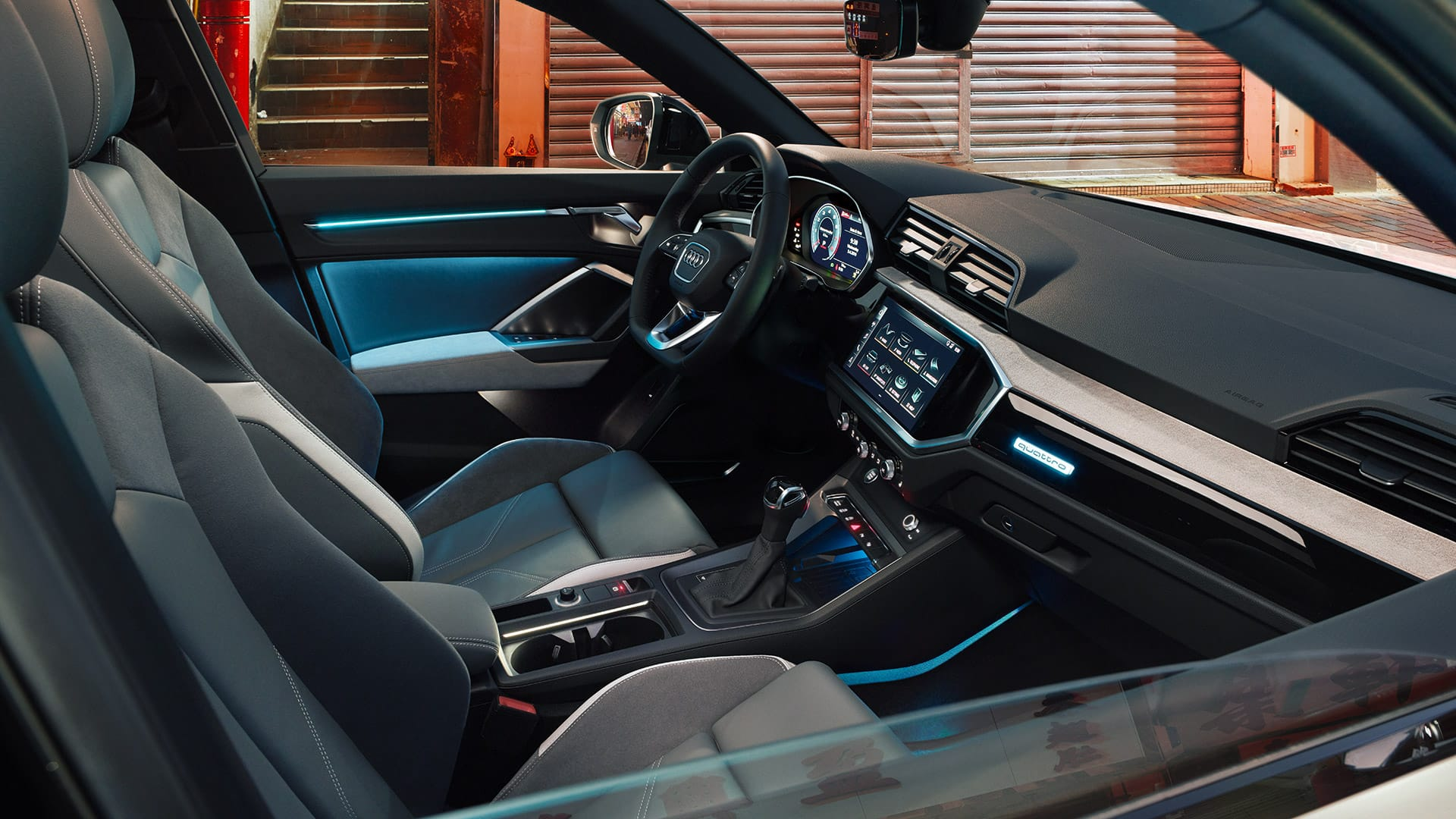 Interior Audi Q3 Sportback with ambient light
